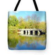 Bridge In A Park Tote Bag