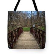 Bridge In Deep River County Park Northwest Indiana Tote Bag