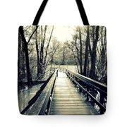 Bridge In The Wood Tote Bag
