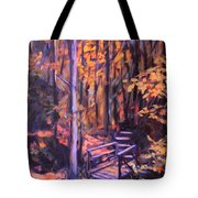Bridge In Woods Near Pandapas Tote Bag
