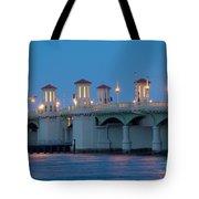 Bridge Of Lions At Dusk St Augustine Florida Tote Bag