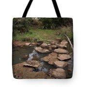Bridge Of Rocks Across The River Tote Bag