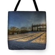 Bridge Of Spy's Sunset. Tote Bag