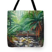 Bridge Over Badger Creek Tote Bag