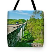 Bridge Over Birdsong Hollow At Mile 438 Of Natchez Trace Parkway-tennessee Tote Bag