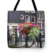 Bridge Over Canal In Amsterdam Tote Bag