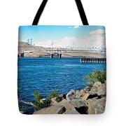 Bridge Over Columbia River At Umatilla-or  Tote Bag