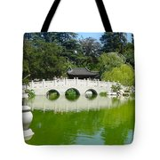 Bridge Over Emerald Water Tote Bag