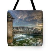 Bridge Over Icey Waters Tote Bag