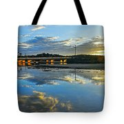 Bridge Over Lake At Sunset Narrabeen Lakes Sydney Tote Bag