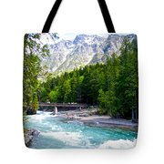 Bridge Over Mcdonald Creek In Glacier Np-mt Tote Bag