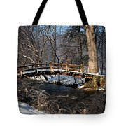 Bridge Over Snowy Valley Creek Tote Bag