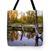 Bridge Over The Pond Tote Bag