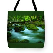Bridge Over The Tananamawas Tote Bag
