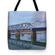Bridge Over Tranquil Waters In Kamloops British Columbia Tote Bag