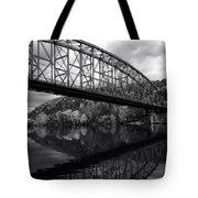 Bridge Reflections In Autumn Tote Bag