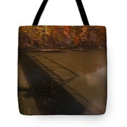 Bridge Shadow In Autumn On The  Duck River Tennessee Fine Art Prints As Gift For The Holidays  Tote Bag