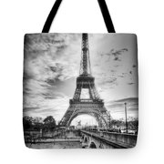 Bridge To The Eiffel Tower Tote Bag by John Wadleigh