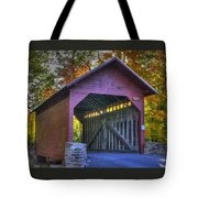 Bridge To The Past Roddy Road Covered Bridge-a1 Autumn Frederick County Maryland Tote Bag