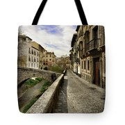 Bridges At Darro Street In Historic Albaycin In Granada Tote Bag