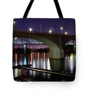 Bridges At Night Tote Bag