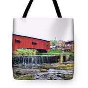 Bridgeton Mill And Covered Bridge Tote Bag