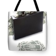 Briefcase Stuffed With Dollar Bills Tote Bag