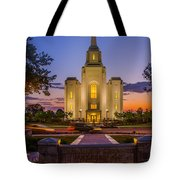 Brigham City Temple Moon N Stars Tote Bag