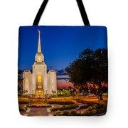 Brigham City Temple Twilight 1 Tote Bag