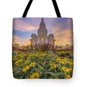 Brigham City Temple Vertical Panorama Tote Bag
