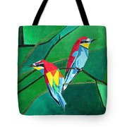 Brighly Colored European Bee-eaters Tote Bag