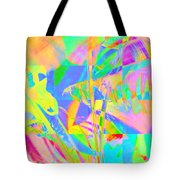 Bright Abstracted Banana Leaf - Square Tote Bag