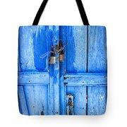 Bright Blue Door Tote Bag