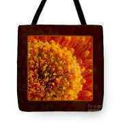 Bright Budding And Golden Abstract Flower Painting Tote Bag