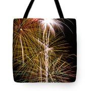 Bright Bursts Of Fireworks Tote Bag