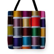Bright Colored Spools Of Thread Tote Bag