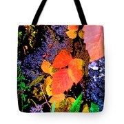 Bright Colorful Leaves Vertical Tote Bag