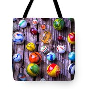 Bright Colorful Marbles Tote Bag