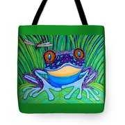 Bright Eyed Frog Tote Bag