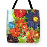 Bright Flower Bunch Tote Bag