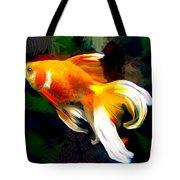 Bright Golden Fish In Dark Pond Tote Bag