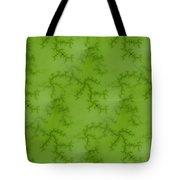 Bright Green Fractal Tote Bag