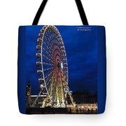 Bright Night Ferris Wheel Tote Bag by Stwayne Keubrick