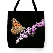 Painted Lady Butterfly On Purple Flower Tote Bag