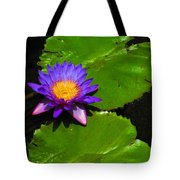 Bright Purple Water Lilly Tote Bag
