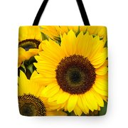Bright Sunflower Blossoms Tote Bag