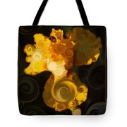 Bright Yellow Bearded Iris Flower Abstract Tote Bag