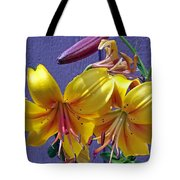 Bright Yellow Lilies Tote Bag
