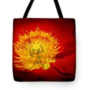 Bright Yellow Poppy Center Tote Bag