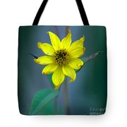 Bright Yellow Wildflower Tote Bag